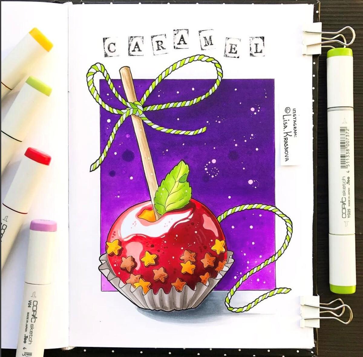 <p> Яблоко в карамели от&nbsp;Лизы Красновой. Плавные переходы цвета и безупречная лепка формы бликами создают атмосферу сказочной сладости.</p>